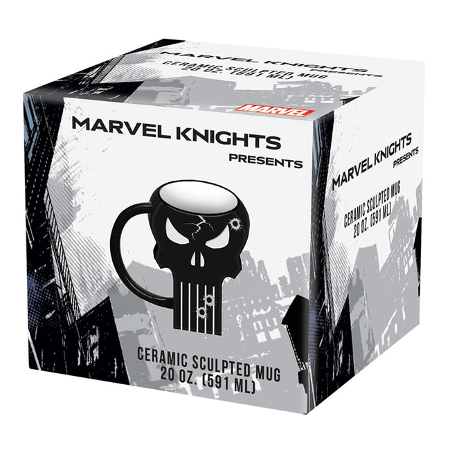 Marvel Punisher 20 oz. Sculpted Ceramic Mug