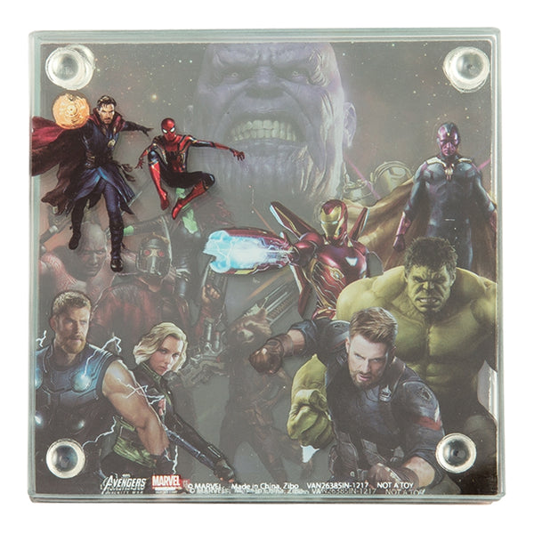 Marvel Avengers Infinity War 4 pc. Stacking Glass Coaster Set