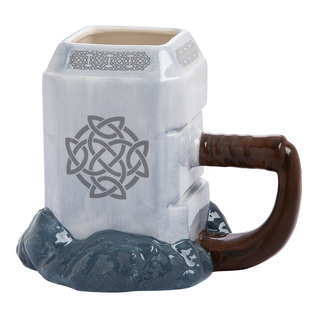 Marvel Thor Mjolnir Premium 20 oz. Sculpted Ceramic Mug