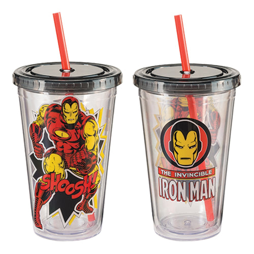 Marvel Iron Man 18 oz. Acrylic Travel Cup