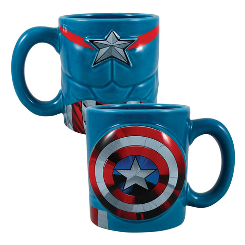 Marvel Captain America 20 oz. Bas Relief Ceramic Mug