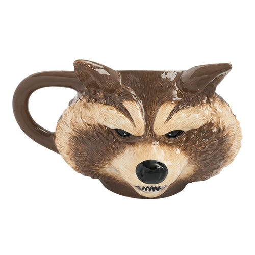 Marvel GOTG 12 oz. Rocket Sculpted Ceramic Mug