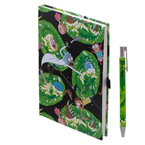 Rick & Morty Hardcover Journal with Pen