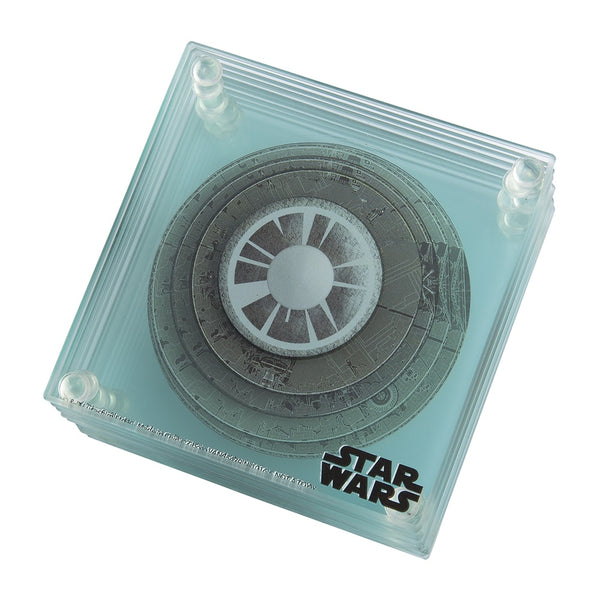 Star Wars 3D Death Star 9 pc. Glass Coaster Set