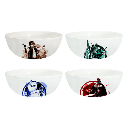 Star Wars 4 pc. 6 in. Ceramic Bowl Set