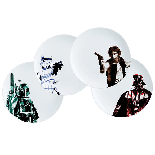 Star Wars 4 pc. 10 in. Ceramic Dinner Plate Set