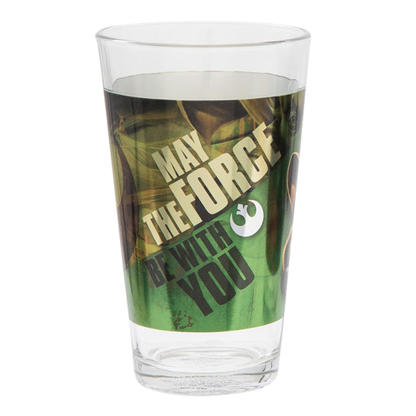 Star Wars Darth Vader & Yoda 16 oz. Laser Decal Glasses - Set of 2