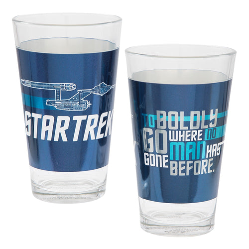 Star Trek 2 pc. 16 oz. Laser Decal Glass Set
