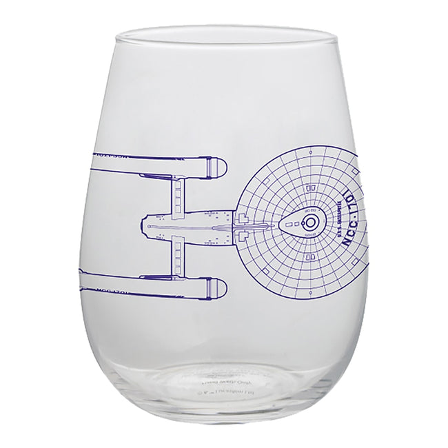 Star Trek 2 pc. 18 oz. Contour Glass Tumblers