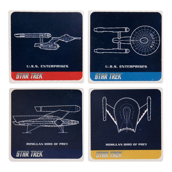 Star Trek 4 pc. Ceramic Coaster Set