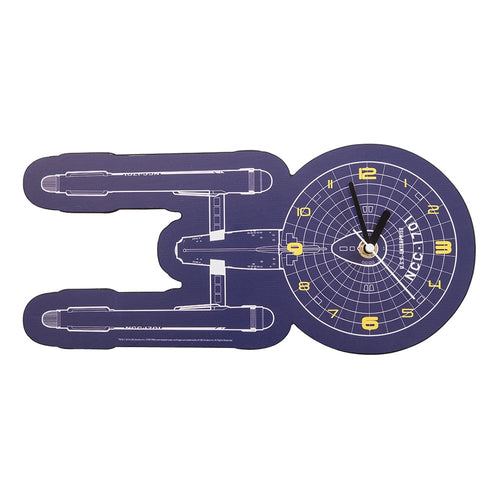 Star Trek Shaped Deco Clock