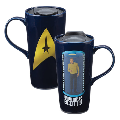 Star Trek Beam Me Up Heat Reactive 20 oz. Ceramic Travel Mug