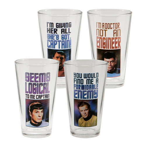Star Trek 4 pc. 16 oz. Glass Set