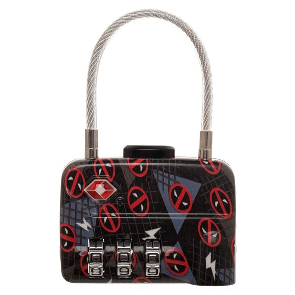 Marvel Deadpool Travel Combination Cable Lock
