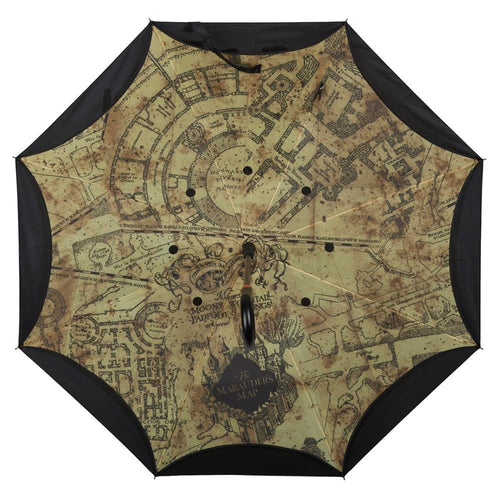 Harry Potter Marauders Map Reverse Folding Umbrella