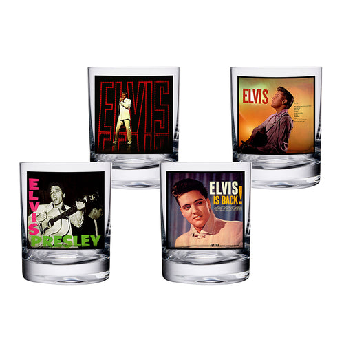 Elvis Presley 10 oz. Glasses - Set of 4
