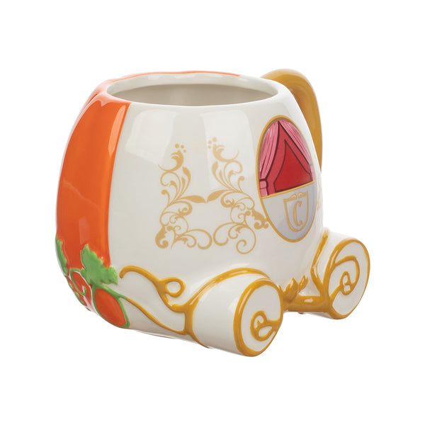Disney Cinderella Pumpkin Sculpted Ceramic Mug