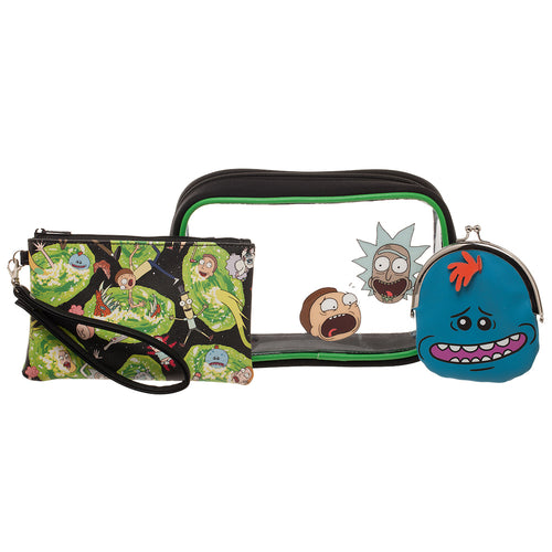 Rick & Morty Travel Kits - Set of 3