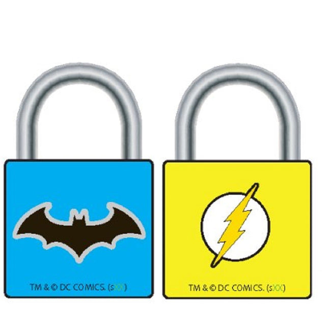 DC Comics Batman & Flash Small Padlocks - Set of 2