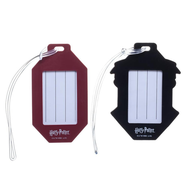 Harry Potter Rubber Luggage Tags - Set of 2