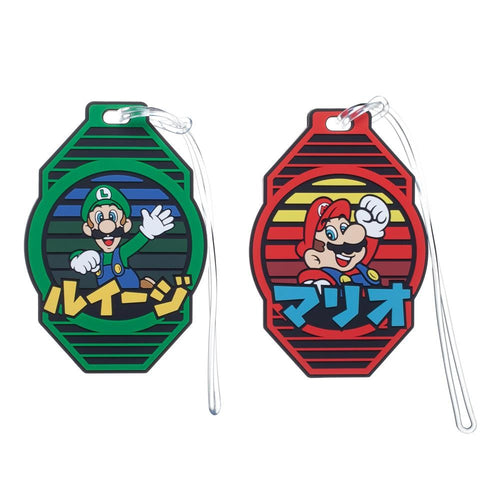 Nintendo Super Mario Rubber Luggage Tags - Set of 2