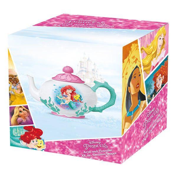 The Little Mermaid Ariel & Flounder Ceramic Teapot