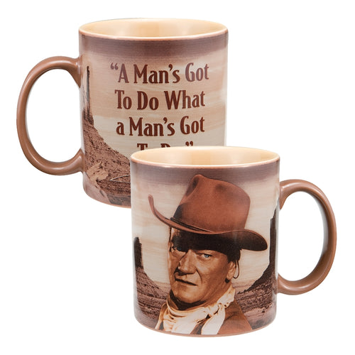 John Wayne A Man's Got to Do 12 oz. Ceramic Mug