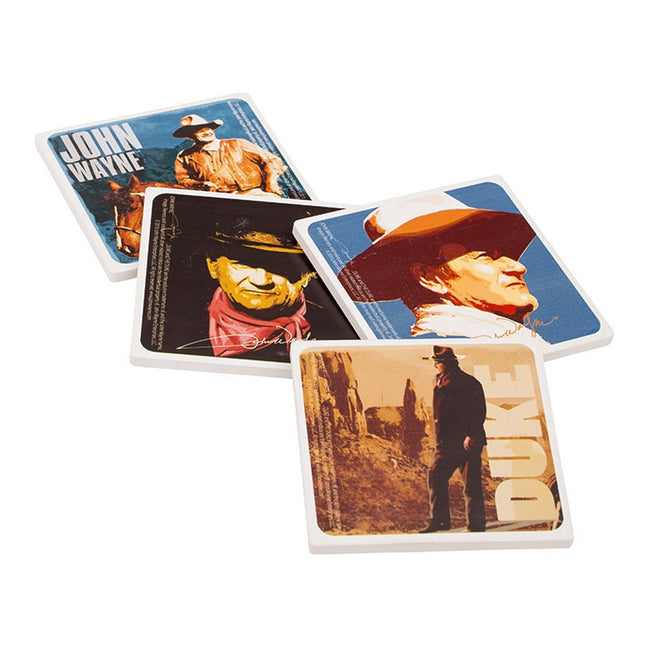John Wayne 4 pc. Ceramic Coaster Set