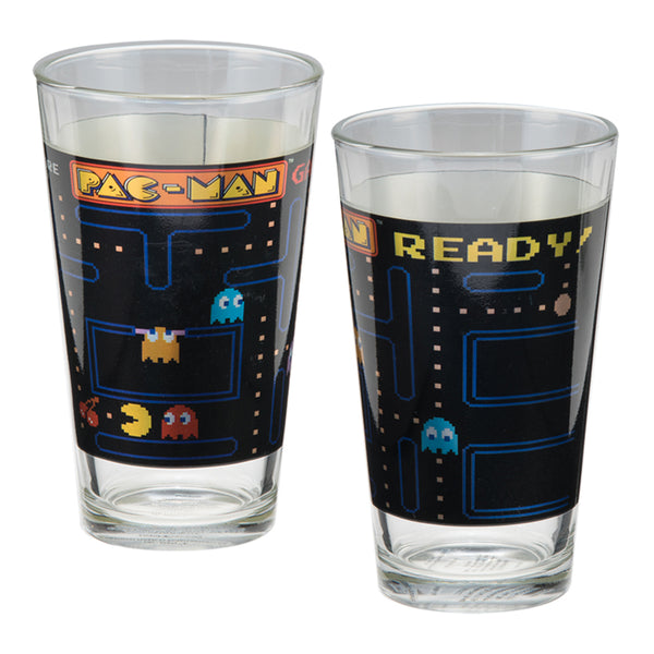PAC-MAN 2 pc. 16 oz. Laser Decal Glass Set