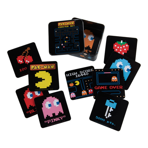 PAC-MAN 10 pc. Coaster Set with Tin Storage Box