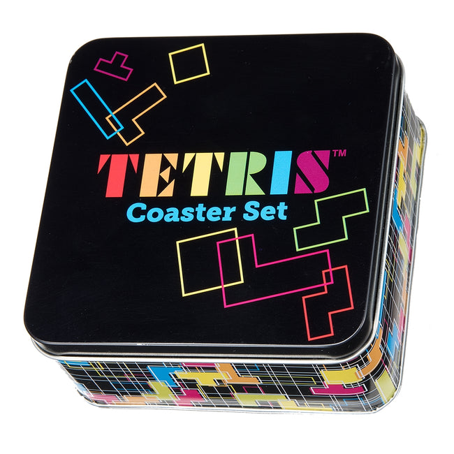 TETRIS 10 pc. Coaster Set with Tin Storage Box