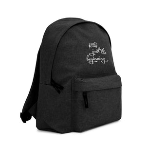 Embroidered Backpack - #itsjustthebeginning