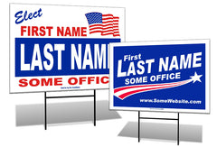 political campaign yard sign templates