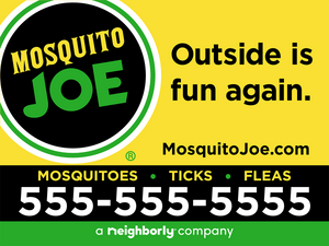 24x18 MoJo (Mosquitos•Ticks•Fleas) Yard Signs with stakes - (Starting at $275)