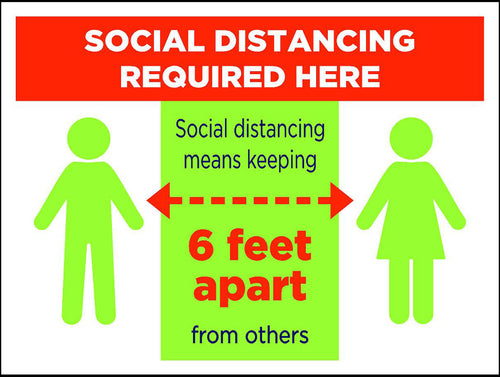 Social Distancing Signs (Package of 5 or 10)
