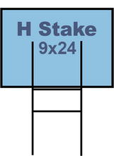 9X24 Yard Stakes - Regular H (Starting at $50)