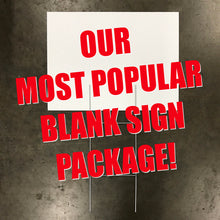 "100 - 18"" X 24"" Blank Sign & Stake Package (Starting at $175)"