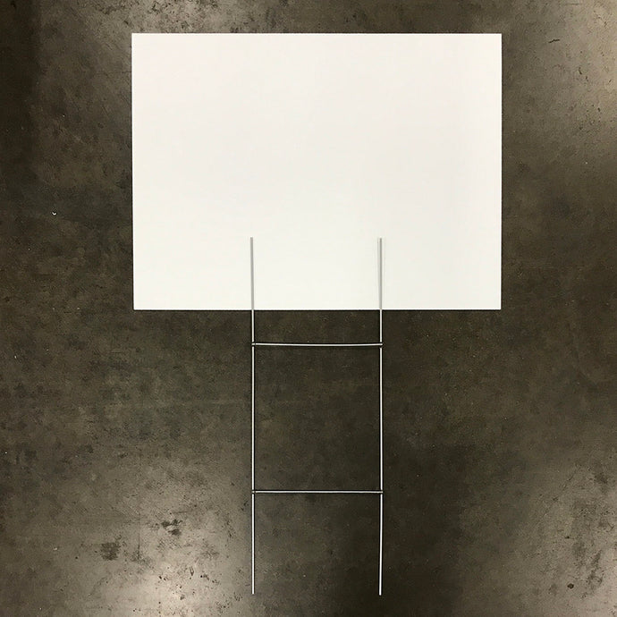 Blank White Sign & Stake Package - 18
