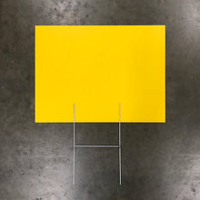 "Blank Yellow Sign & Stake Package - 18"" X 24"" (Starting at $55)"