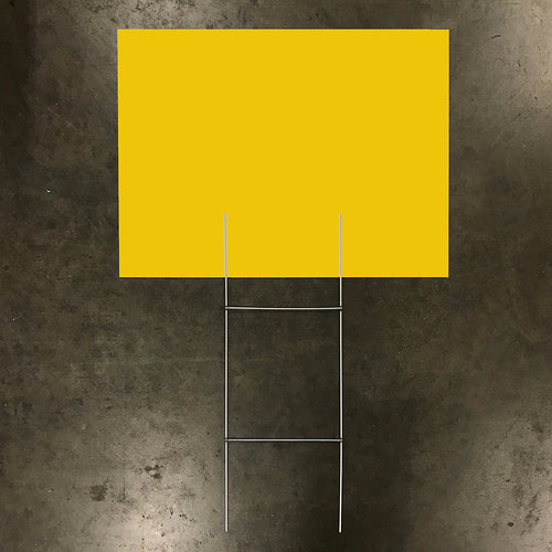 Blank Yellow Sign & Stake Package - 18