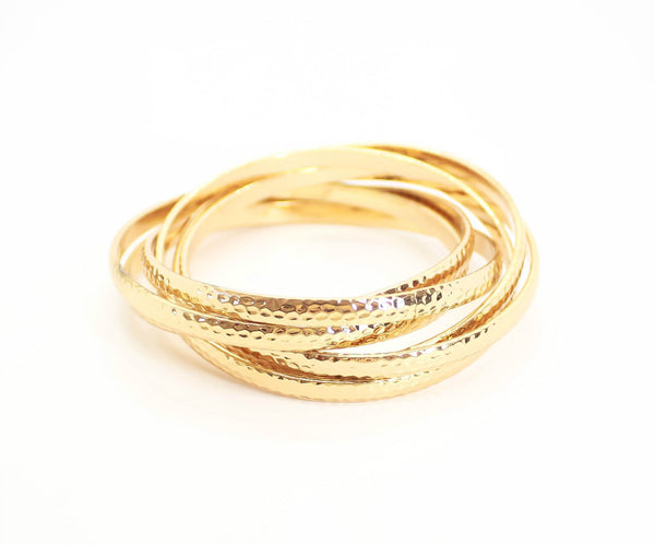 Multi-layered Golden Bangle
