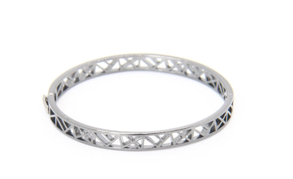Geometric Cross Bangle