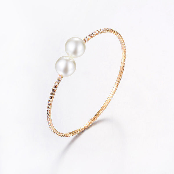 Golden Pearly Bracelet/Necklace