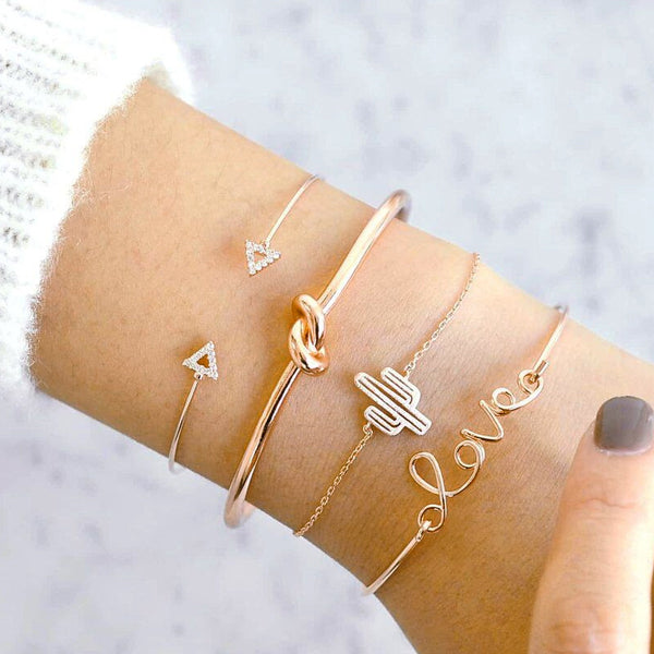 Cactus Love Bangle Set
