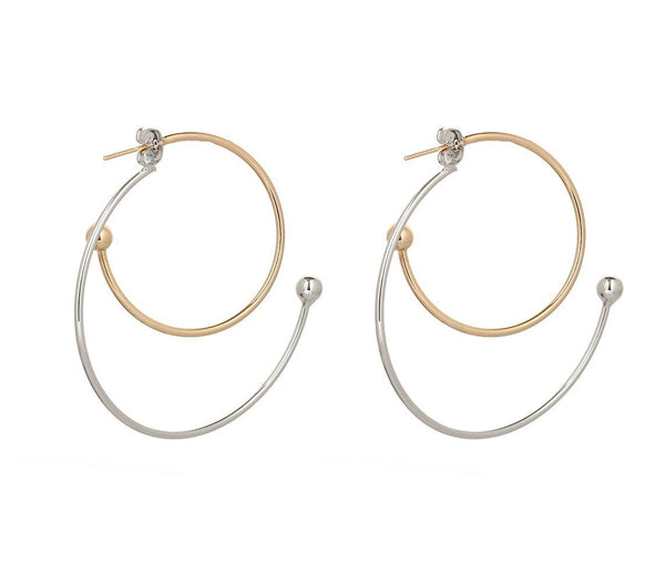 Double Color Hoop Earrings