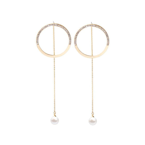 Gorgeous Pearl & Hoop Earrings