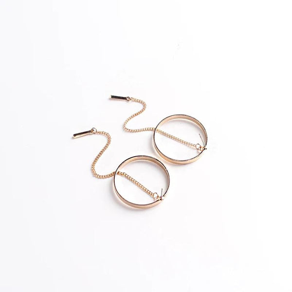 Shiny Drop Hoop Earrings