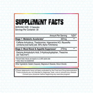 Lipostage SWFT Fat Burner Supplement Facts