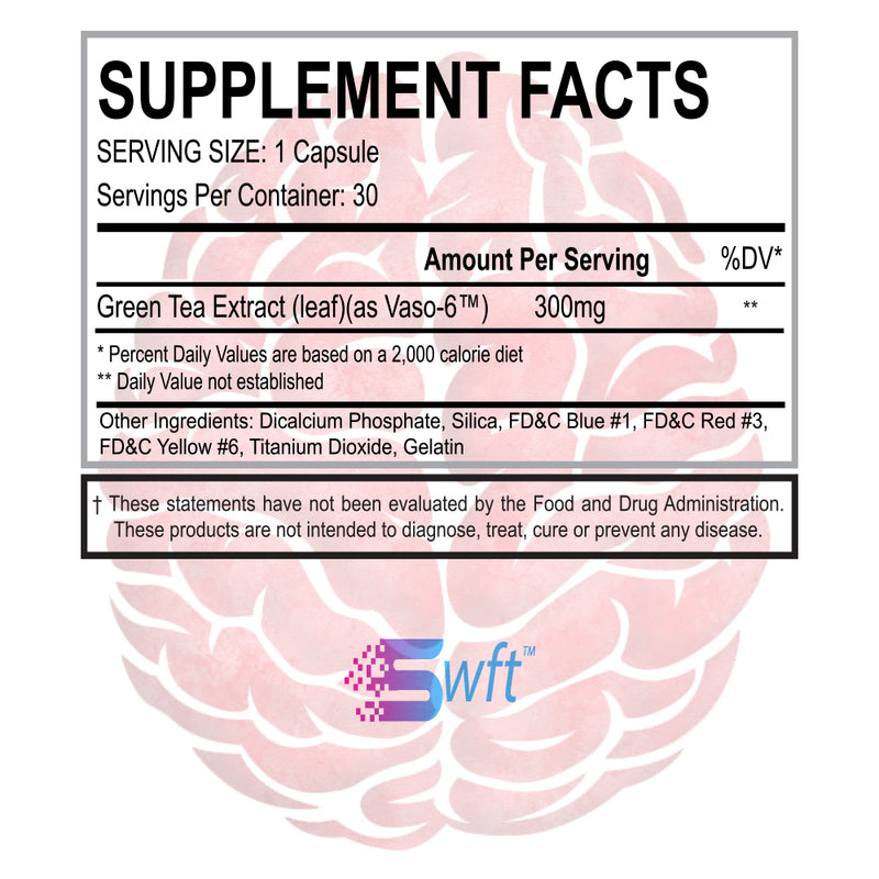 SWFT VASO6 Pump Supplement Facts