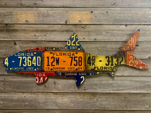 Florida Bonefish Antique License Plate Art